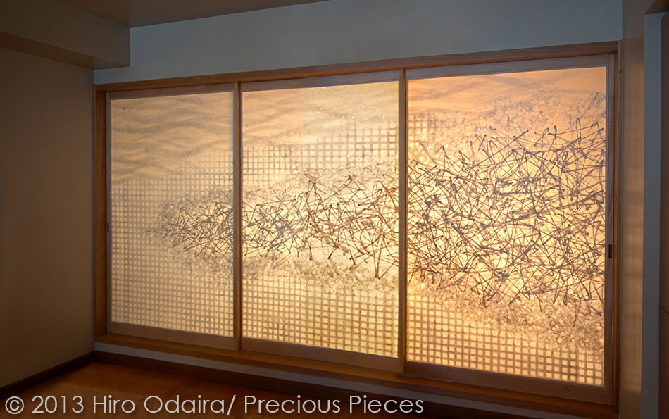 Doors sliding panels hiro odaira precious pieces for Sliding glass doors nyc