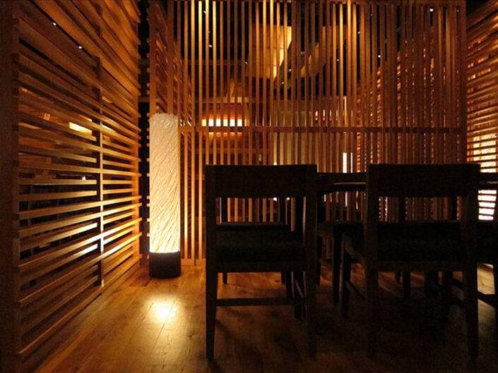 Washi Floor Lamps for Blue Ribbin Sushi, Las Vegas