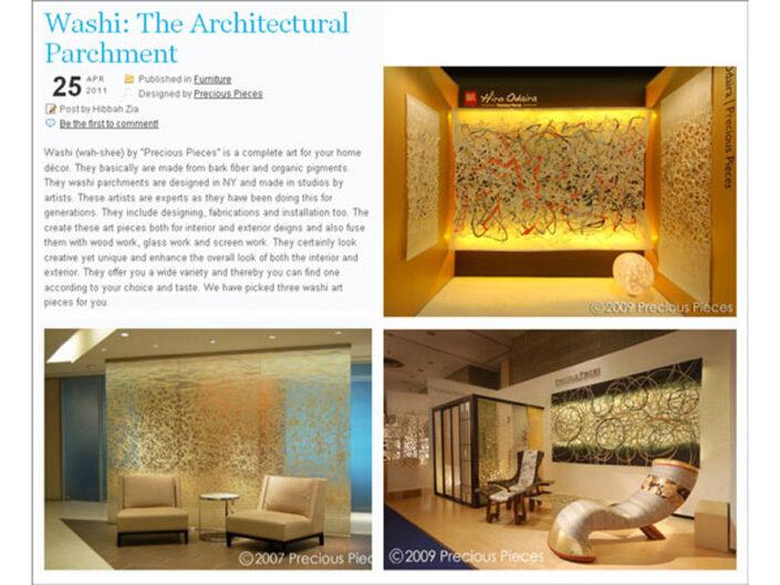 Millenion Design :Washi: The Architectural Parchment