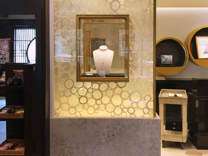 Custom Laminated Washi Show Window For Jewelry Store