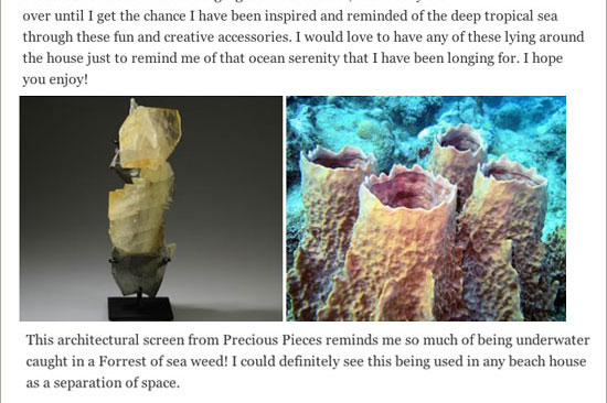 (Web) Precious Pieces is on Catherine C. Cleare Interiors blog