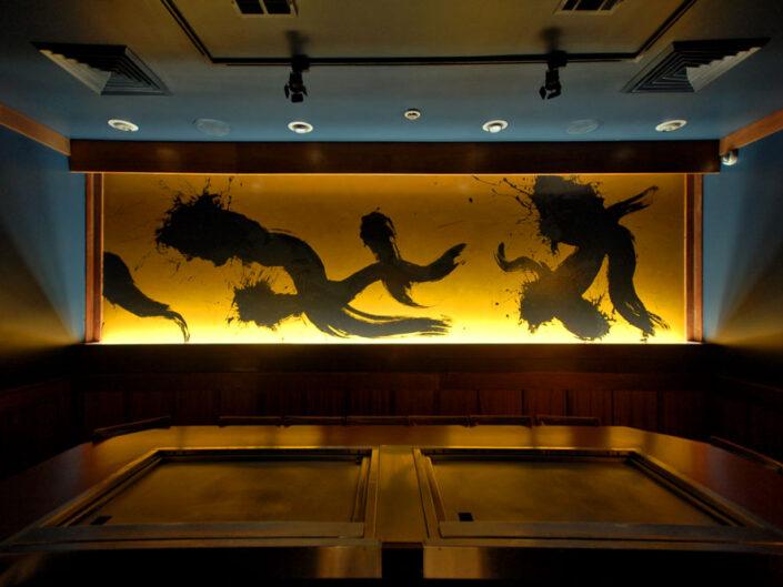 Illuminated Mural for Upscale Hibachi Restaurant