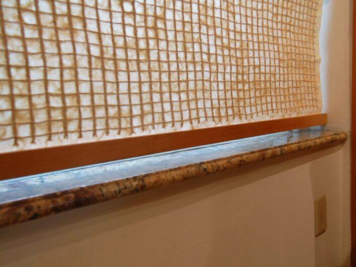 Premium Washi Window Shade with Custom Wooden Holding Bars