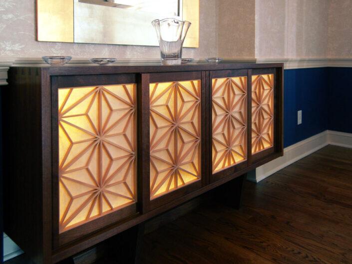 George Nakashima Cabinet with Precious Pieces' Washi