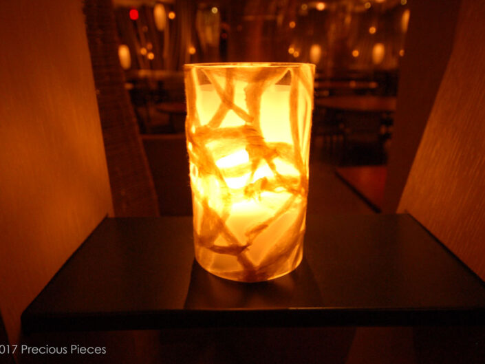 Washi Candle Shade for an Upscale Restaurant's Dining Area