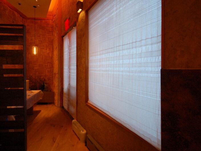 Woven Washi Window Shades At A Signature Restaurant, NYC