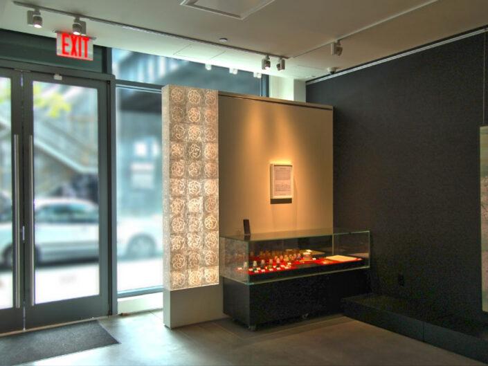 Illuminated Washi Box Wall At A Chelsea Gallery, NYC