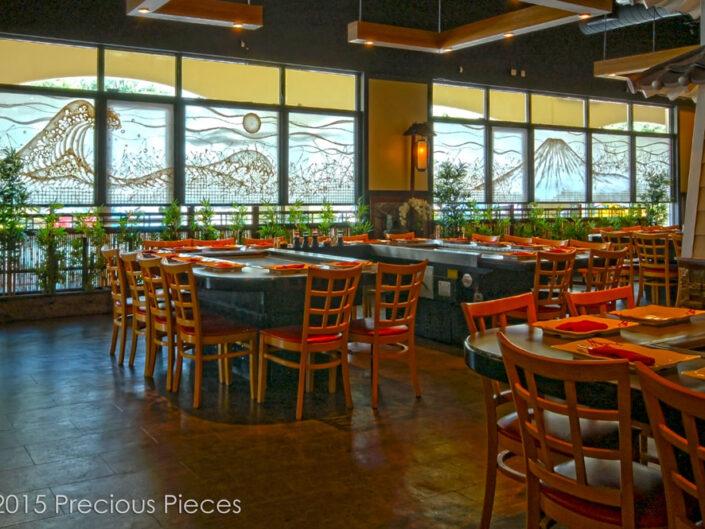 Extra Large Washi Windows for Hibachi Restaurant Dining