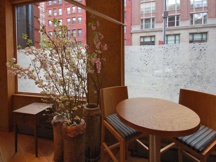 Window Treatment For Brushstroke Restaurant, Tribeca, New York