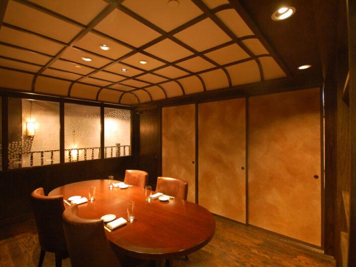 Washi Fusuma Sliding Doors For A Japanese Brasserie, NYC