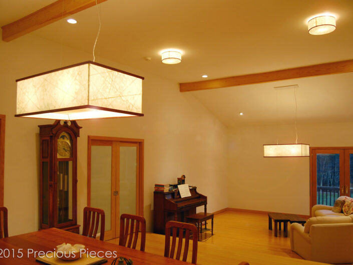 Washi Lighting Fixtures for Private Residence